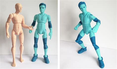figure 3d printer model 3dkitbash unveils printed models of niq the easily
