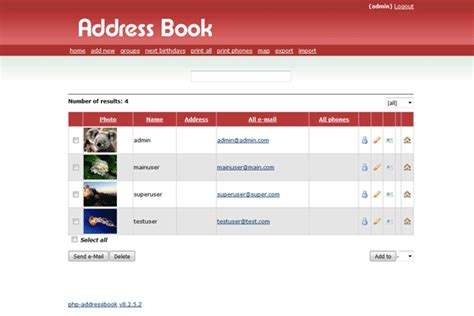 Phone Search By Address Php Address Book
