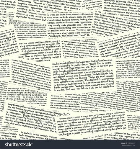Pattern In Writing News | vector text seamless pattern newspaper illustration stock