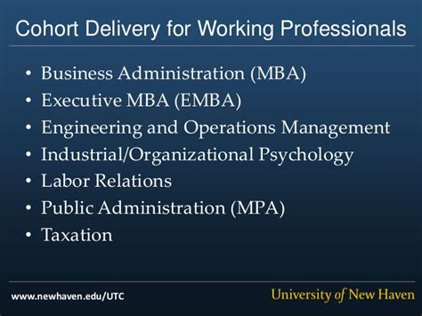 Industrial Organizational Psychology With Mba by Of New United Technologies Partnership