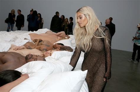 kanye west bed famous by kanye west private exhibition event at blum and