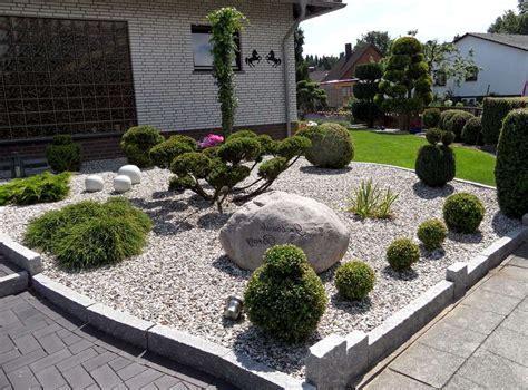 garten ideen steine stein vorgarten gartengestaltung ideen modern