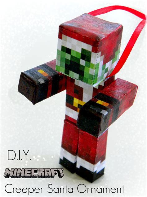 diy minecraft creeper santa ornament kerryannmorgan com