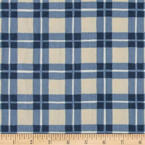 ansley home decor cotton duck plaid blue discount