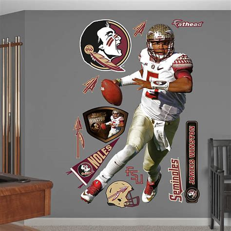Fsu Decor by Size Jameis Winston Florida State Wall Decal Shop