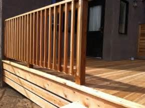 decking banister 25 best ideas about wood deck railing on deck