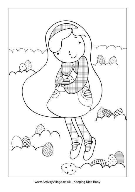 coloring pages easter egg hunt easter egg hunt coloring page coloring pages pinterest