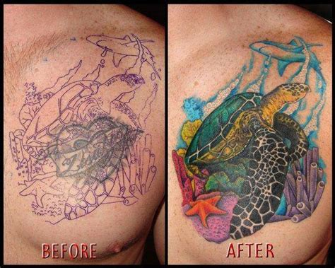 chest cover up tattoos 55 cover up tattoos impressive before after photos