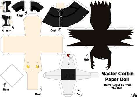 Papercraft Dolls - master corbin paper doll by frozen lullaby on deviantart