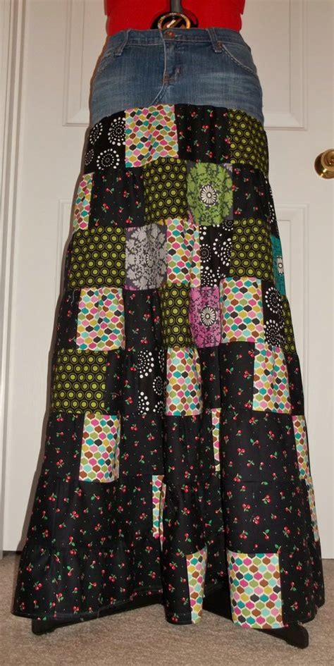 Patchwork Skirt Pattern Free - patchwork maxi skirt sewing projects burdastyle