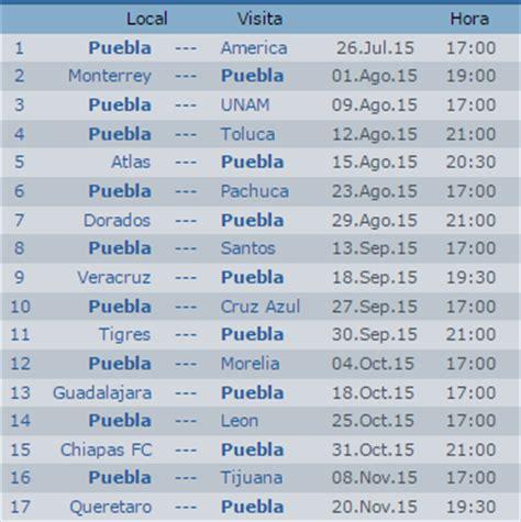 Calendario Apertura 2015 Calendario Puebla Apertura 2015 Futbol Mexicano Apuntes