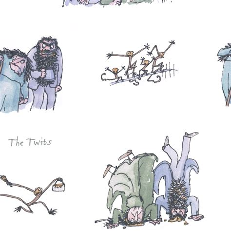 The Twits Fabric Twits (TWITS) Ashley Wilde Roald Dahl Fantabulous Fabrics Collection