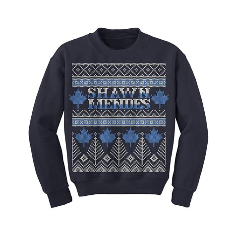 celebrity merch list shawn mendes x mas sweatshirt christmas presents 2015