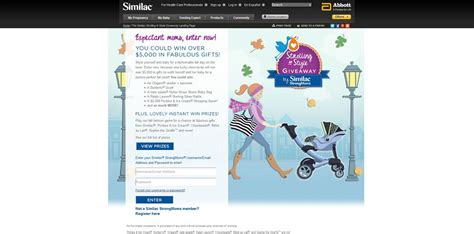 Www Similac Com Giveaway - similac strolling in style giveaway win over 5 000 in fabulous gifts