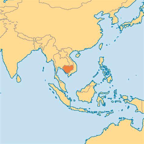 cambodia in the world map cambodia operation world