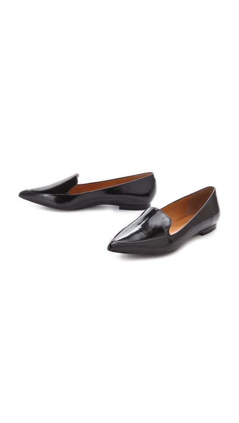 black loafer flats 3 1 phillip lim page loafer flats in black lyst