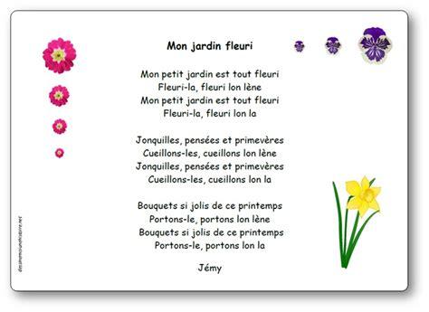 comptine mon jardin fleuri de j 233 my paroles illustr 233 es de