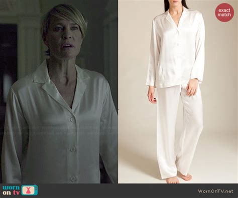 La Perla Gift Card - wornontv claire s white pajamas on house of cards robin wright clothes and