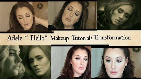 tutorial makeup transformation adele hello makeup tutorial transformation youtube