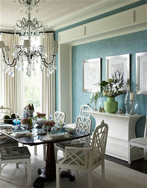 Turquoise dining room transitional dining room