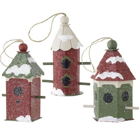 6 5 quot birdhouse ornament christmas pinterest