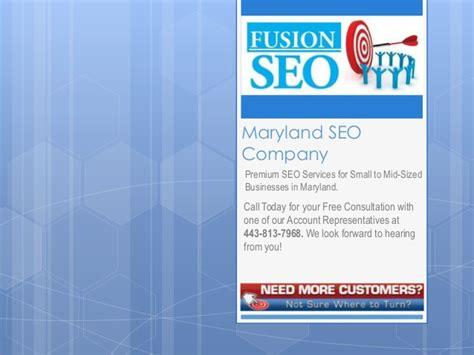 Seo Company 1 maryland seo company fusion seo