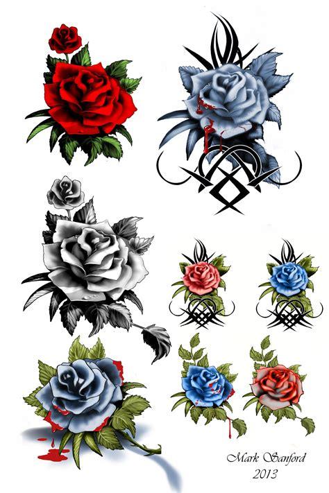 漂亮的玫瑰花纹身