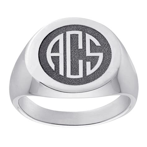 sterling silver s monogram top engraved signet ring 36057 limoges jewelry