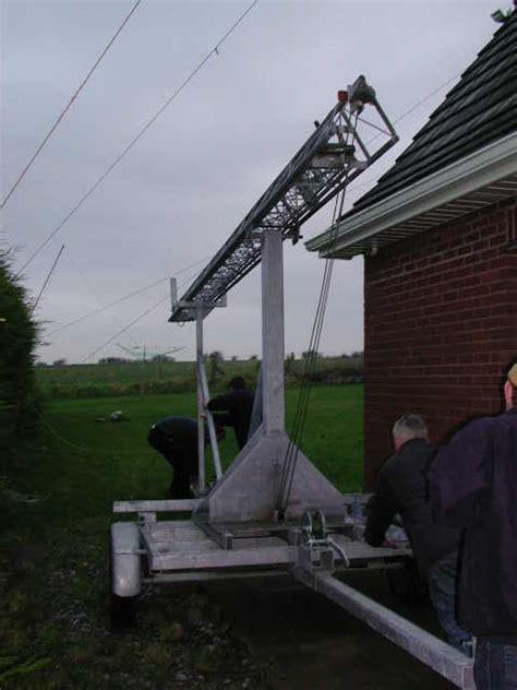 ham radio trailer mast tilt  tower eifk