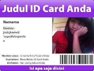 cara membuat id card foto cara membuat id card tanpa biaya tips dan trik