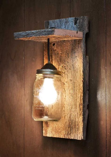 Wood Wall Sconce Wood Wall Sconce