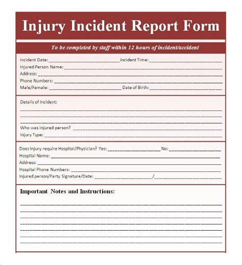 report templates free incident report template peerpex