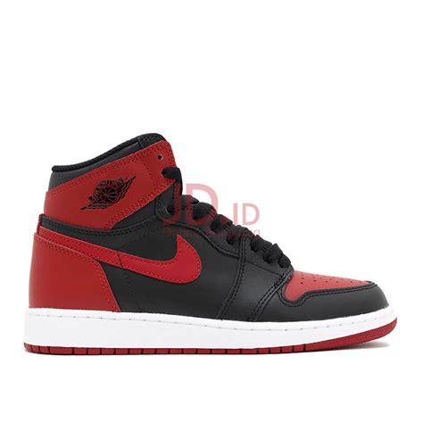 Sepatu Nike Air 1 Retro jual nike air retro 1 bred 2016 black 42 5