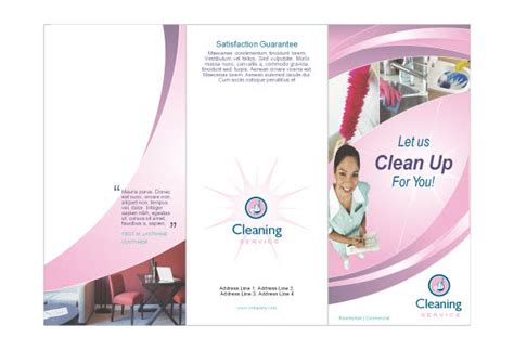 cleaning brochure templates free 8 best images of cleaning company brochure templates