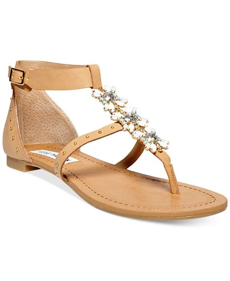 steve madden sandals flat lyst steve madden s zalia flat sandals in