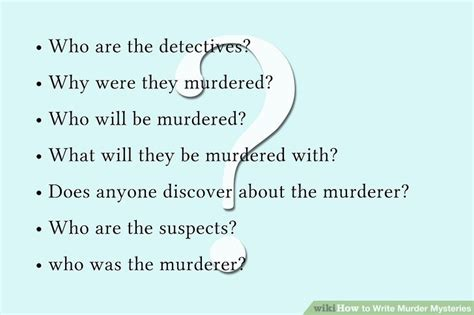themes for a mystery story how to write murder mysteries 7 steps with pictures