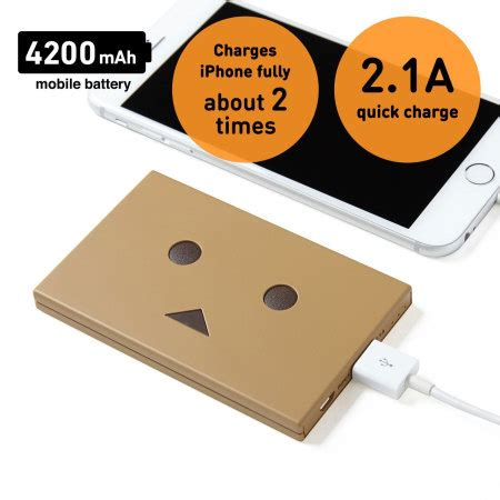 Power Bank Robot Smart Power robot power bank portable charger 4 200mah mocha brown