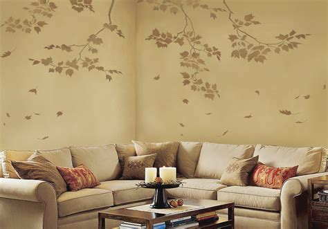wall reusable wall stencils sycamore branches and