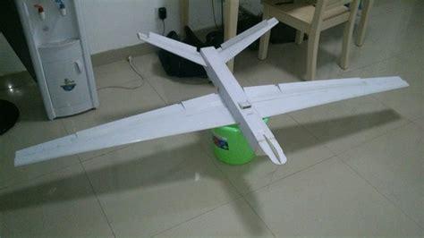 video of homemade foam board rc fpv airplane setup foam board rc predator project 7 foot wingspan flite test