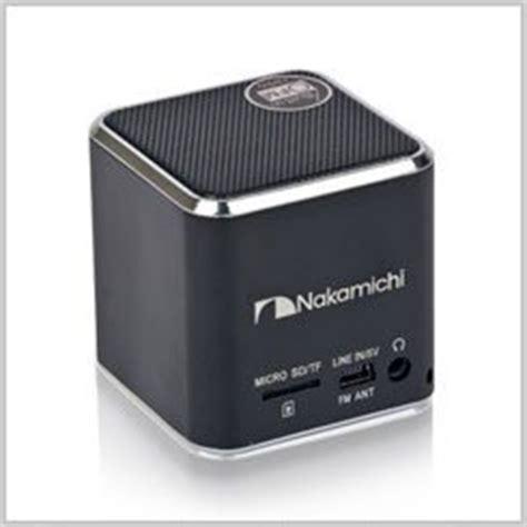 Speaker Mini Nakamichi black mini plus portable mp3 stereo cube speakers design fm radio by nakamichi
