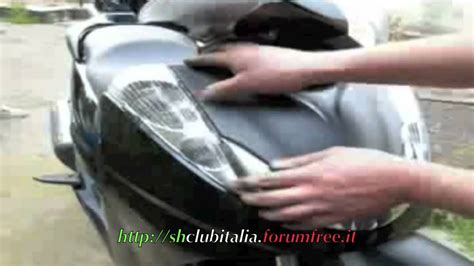 candela sh 300 guida smontaggio scudo sh300i