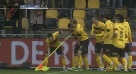 vvv venlo pay tribute to fans efforts with clever goal
