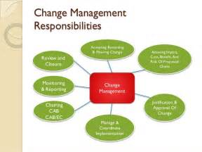 Change Management Responsibilities by Change Management Itil Series