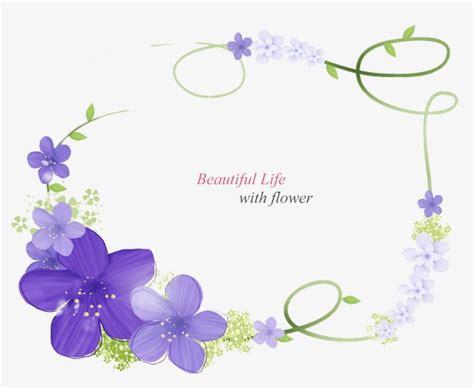 Wedding Border Design Psd by Purple Flower Border Purple Flower Border Design Png