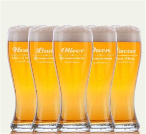 Personalized Beer Glasses Wedding Favors