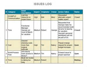 Project Management Issue Log Template by Issue Log Sle 6 Documents In Pdf Word