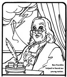 free coloring pages ben franklin printable