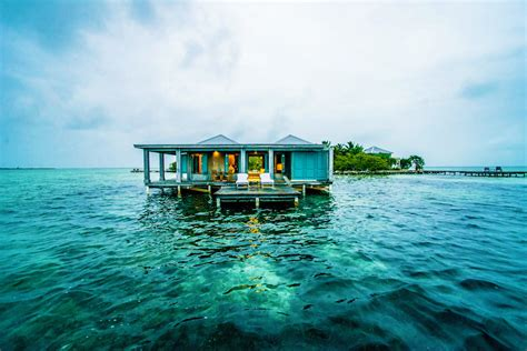 belize overwater bungalow five overwater caribbean bungalow hotels
