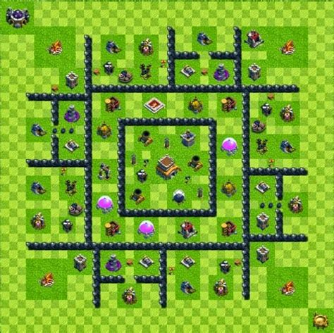 base layout town hall level 6 tipe defense coc indonesia tipe defense base layout town hall level 8 clash of clans