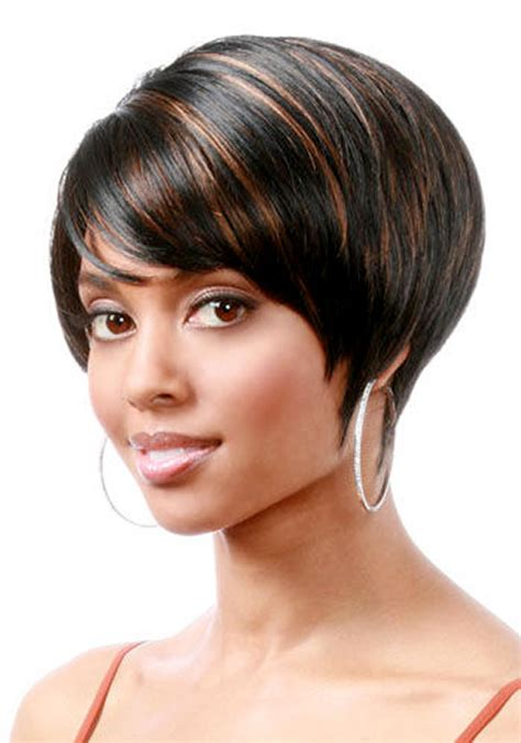 black hairstyles cut in a bob short bob haircut for black women pageboy